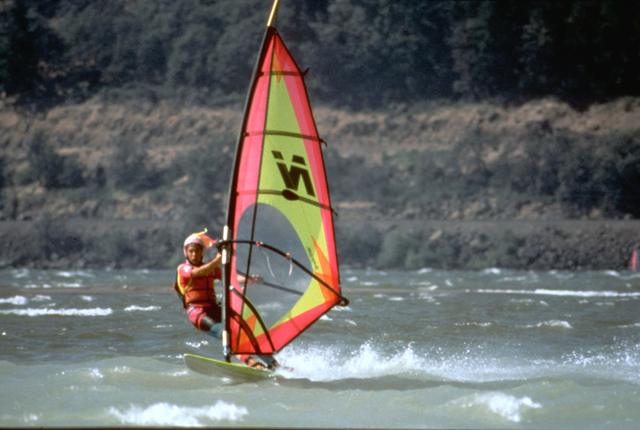 Historic Columbia River Highway - Windsurfing, a Popular Sport on the Columbia River