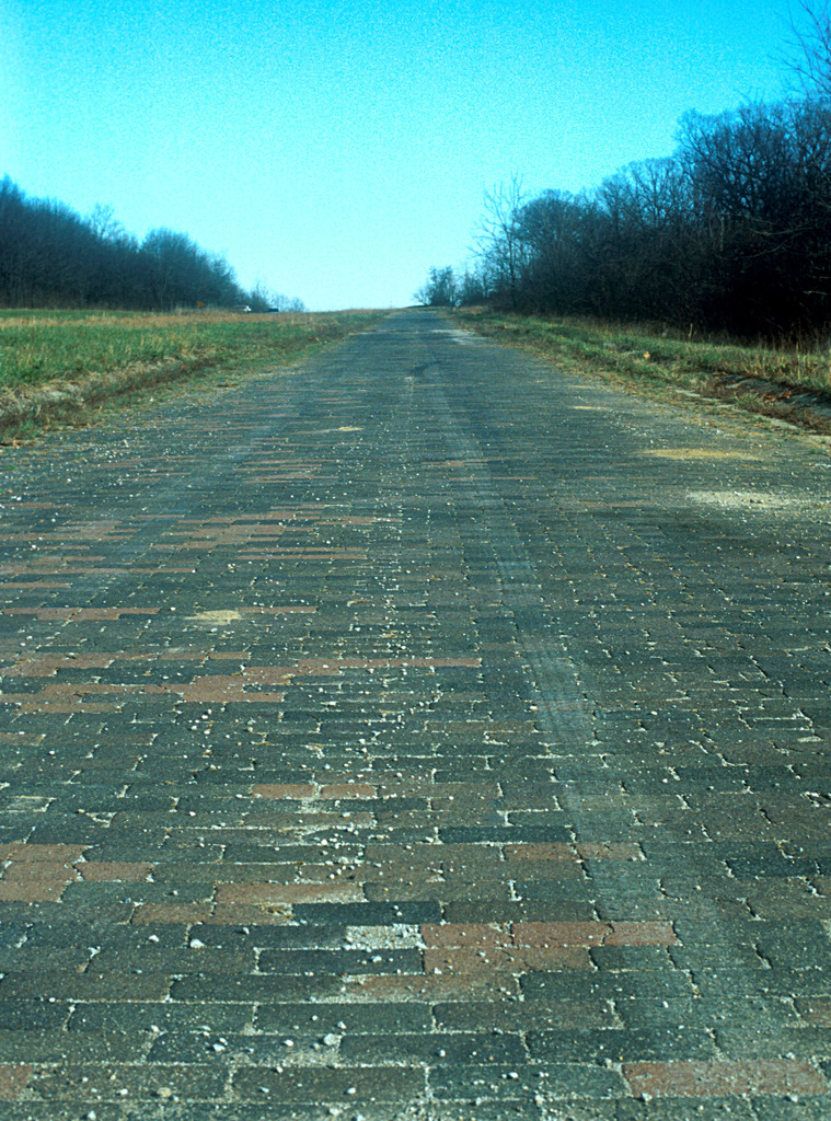 Historic National Road - Original Brick Section of Rt. 40