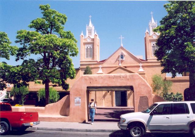 Historic Route 66 - San Felipe de Neri Church in Old Town, Albuquerque, NM