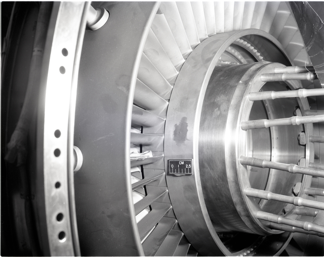INLET OF TF-30 ENGINE IN THE SPACE POWER CHAMBER SPC