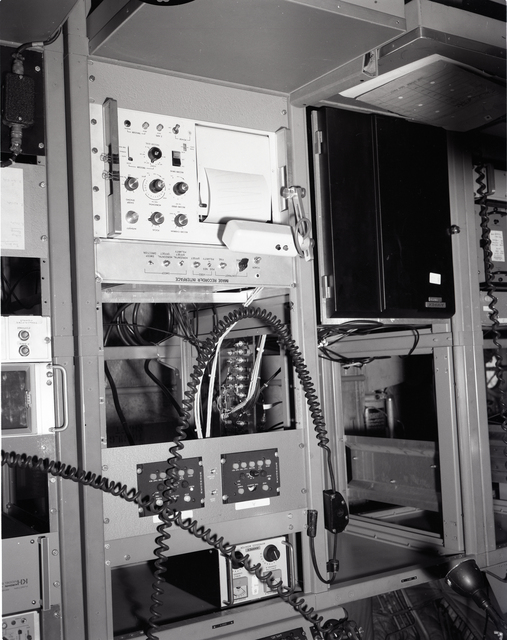 INSTRUMENT RACK LOCATED ON THE C-130 AIRPLANE
