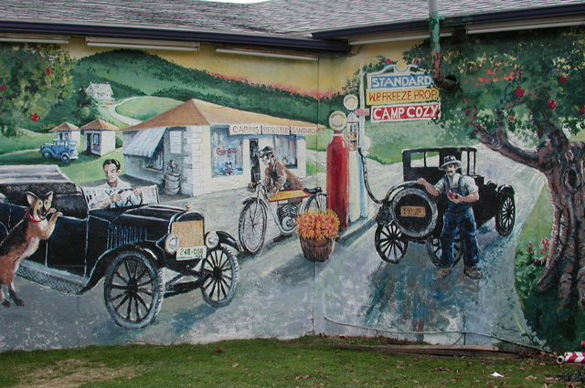 Journey Through Hallowed Ground Byway - Mural at Cozy Inn