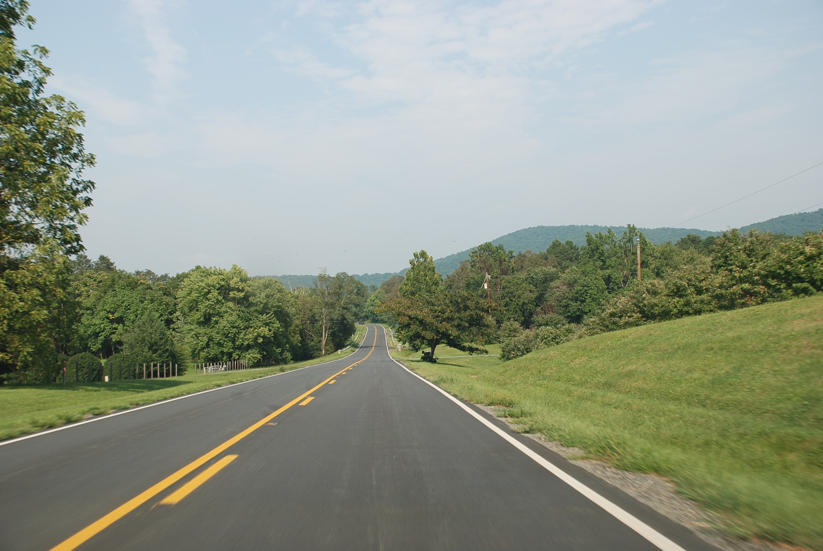 Journey Through Hallowed Ground Byway - View of the Southwest Mountains from VA-20 in Albemarle County