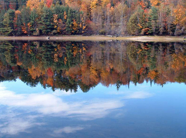 Kancamagus Scenic Byway - Fall Reflection