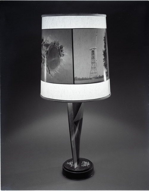 LAMP PRESENTED TO NASA ADMINISTRATOR DR FLETCHER AT NASA
