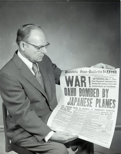 LEO SIENKIEWICZ WITH PEARL HARBOR PAPER