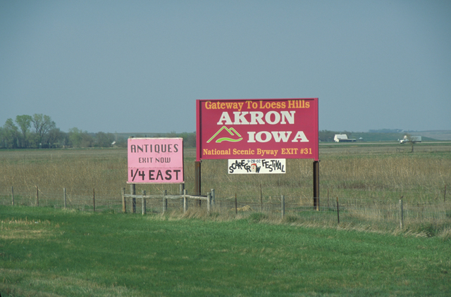 Loess Hills Scenic Byway - Byway Billboard for Akron, Iowa
