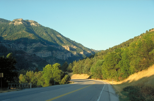Logan Canyon Scenic Byway - Logan Canyon Scenic Byway in Early Morning Light