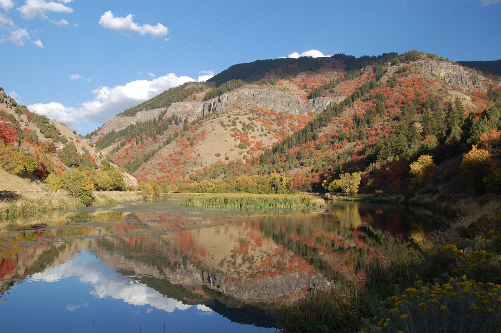 Logan Canyon Scenic Byway - Third Dam in Autumn