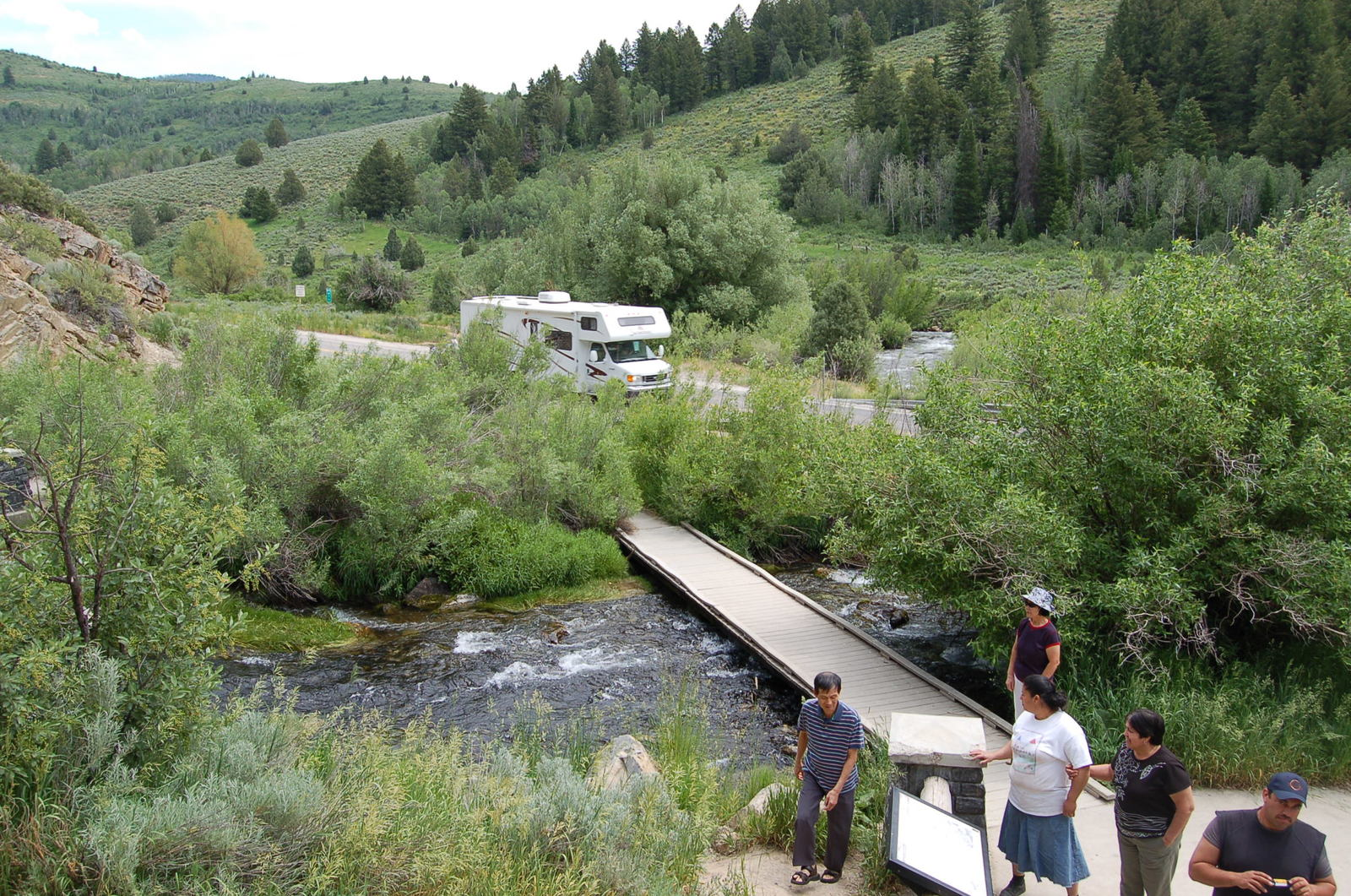Logan Canyon Scenic Byway - Walkway over the Ricks Spring Runoff