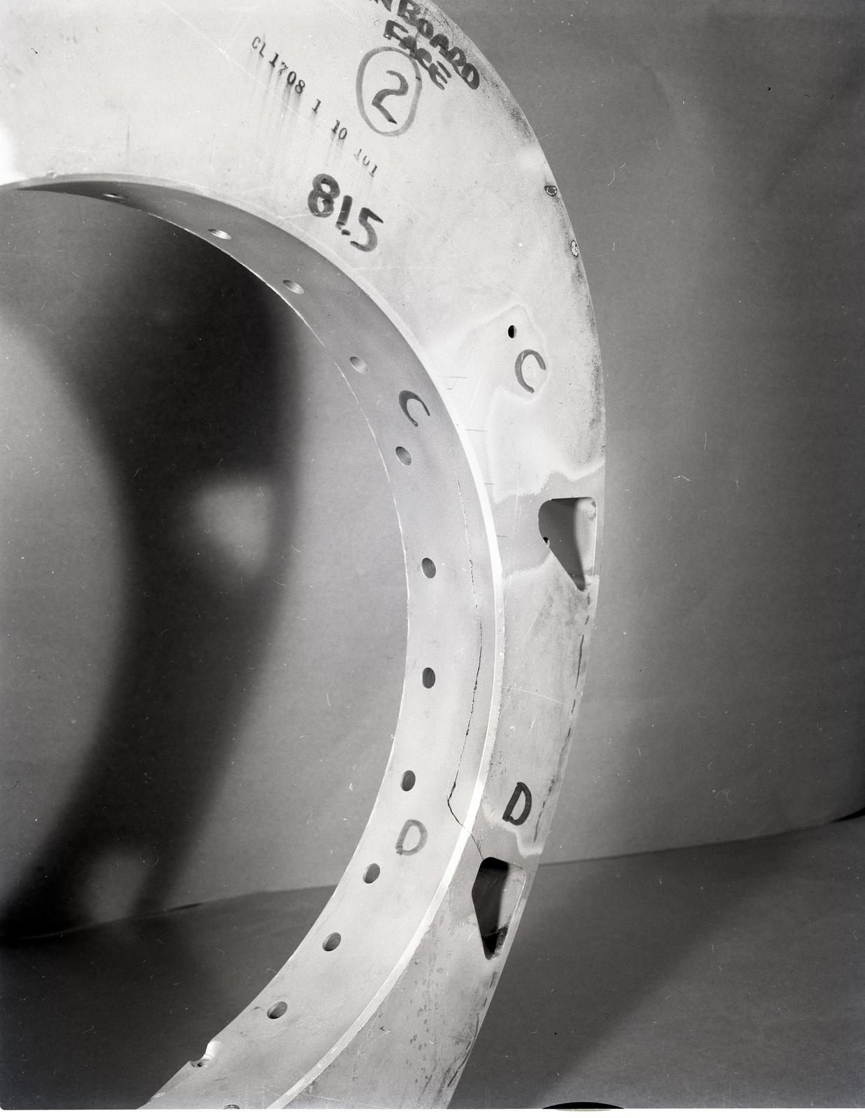MACHINE SHOP - VARIOUS HUB PARTS AND BEARINGS - STA 81.5 RIB ON THE MOD-O WIND TURBINE BLADE
