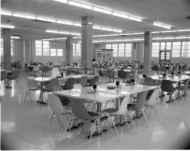MAIN CAFETERIA SERVICE AREA - BULLPEN - AND SEATING AREA