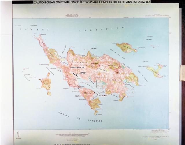 MAPS SHOWING CULEBRA PUERTO RICO WIND TURBINE