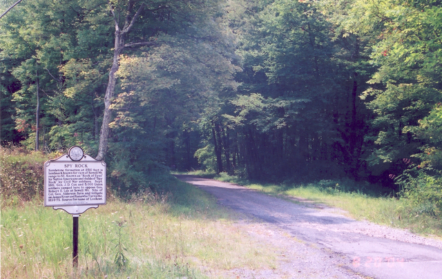 Midland Trail - Spy Rock Marker