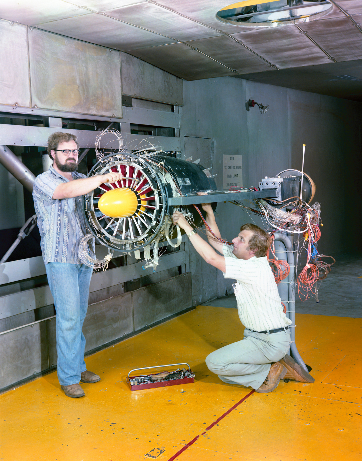 MODEL IN THE 9X15 FOOT WIND TUNNEL