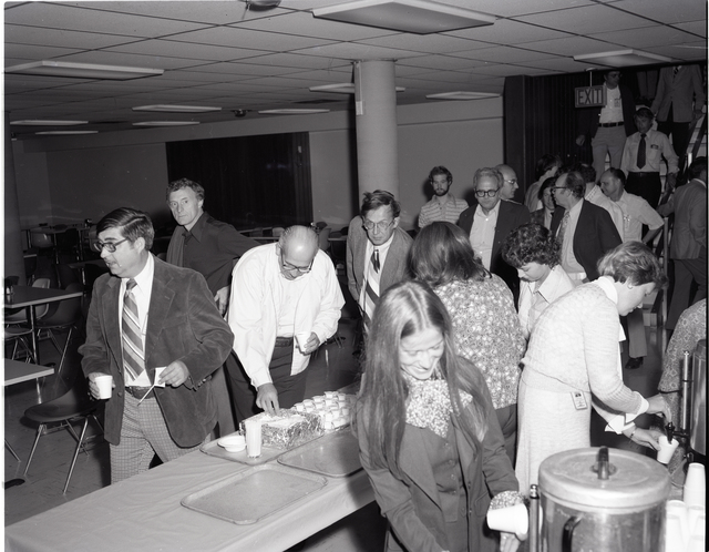 MR W STEWART SOCIALIZING WITH HIS STAFF AFTER HIS AERONAUTICS DIRECTORATE  MESSAGE