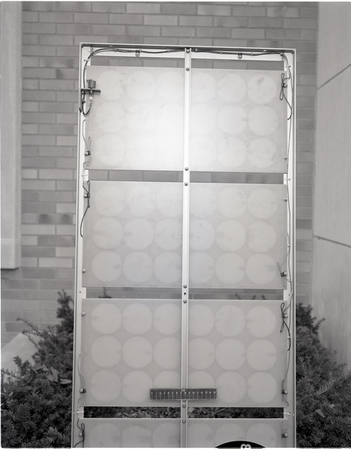 NASA LEWIS RESEARCH CENTER PROTOTYPE SOLAR PANELS