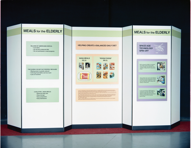 NASA MEAL SYSTEM FOR THE ELDERLY EXHIBIT AT THE HEALTH MUSEUM