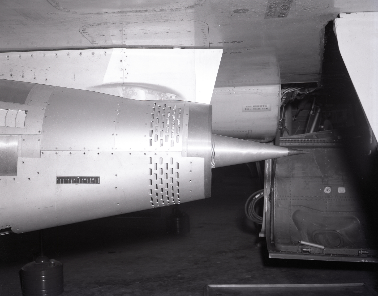 NOZZLES AND AN INLET ON THE F-106 AIRPLANE