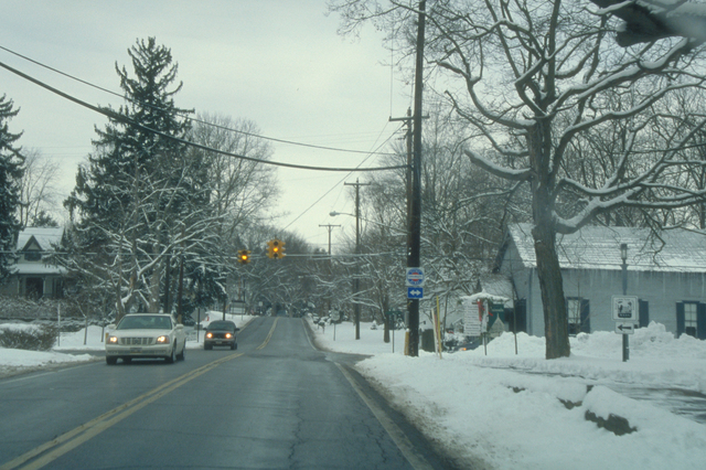 Ohio & Erie Canalway - Driving through a Wintery Neighborhood