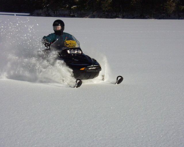 Old Canada Road Scenic Byway - Deep Powder Sledding