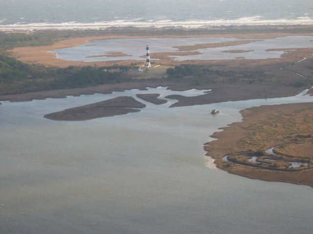 Outer Banks Scenic Byway - Bodie Island Light Station and Visitor Center in the Cape Hatteras National Seashore