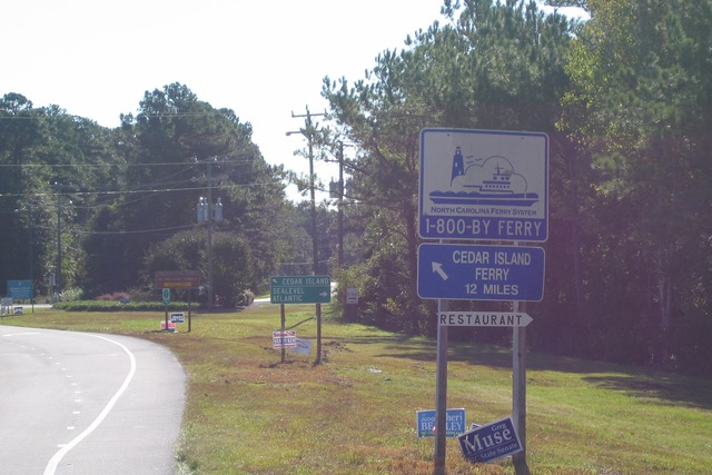 Outer Banks Scenic Byway - Directional Signs Outside the Village of Sea Level