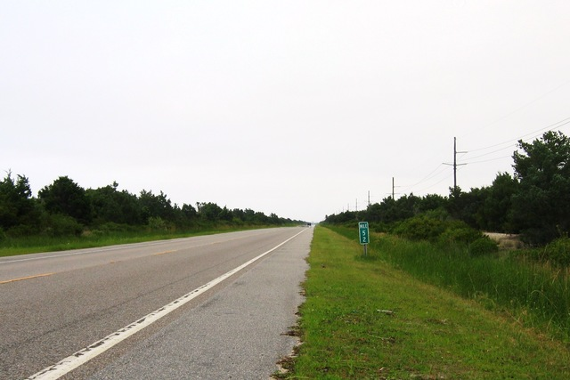 Outer Banks Scenic Byway - Mile Markers on Bodie, Hatteras, and Ocracoke Islands