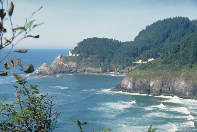 Pacific Coast Scenic Byway - Oregon - Distant Lighthouse on Oregon's Pacific Coast