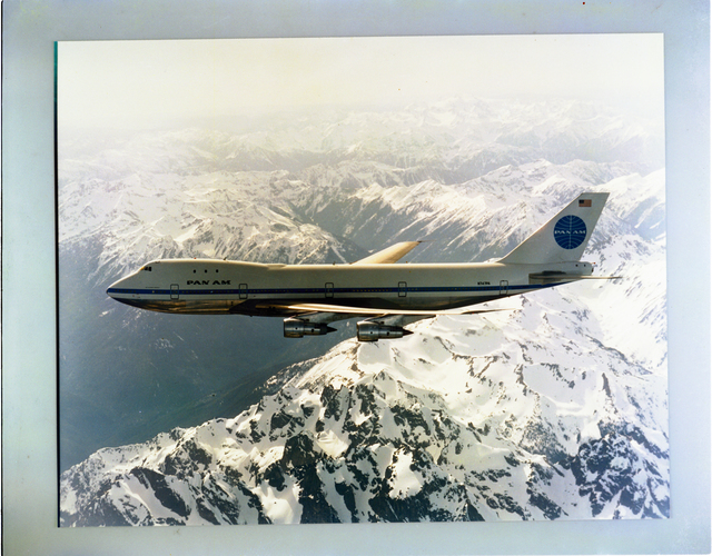 PAN AM AIRLINES BOEING 747 AIRPLANE FOR AERONAUTICAL PROPULSION CONFERENCE