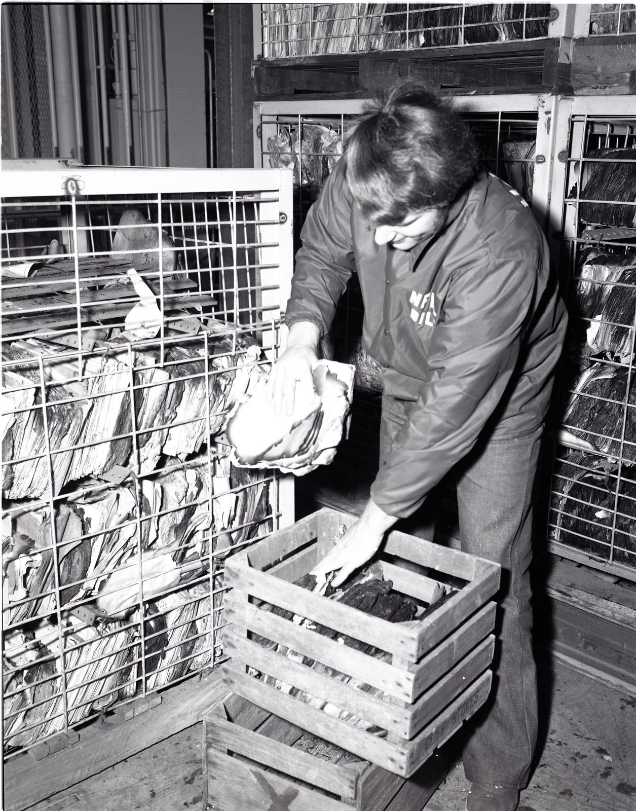 PAPER DRYING PROJECT - B-2 FACILITY NATIONAL RECORD CENTER FIRE - NASA PLUM BROOK STATION SANDUSKY OHIO