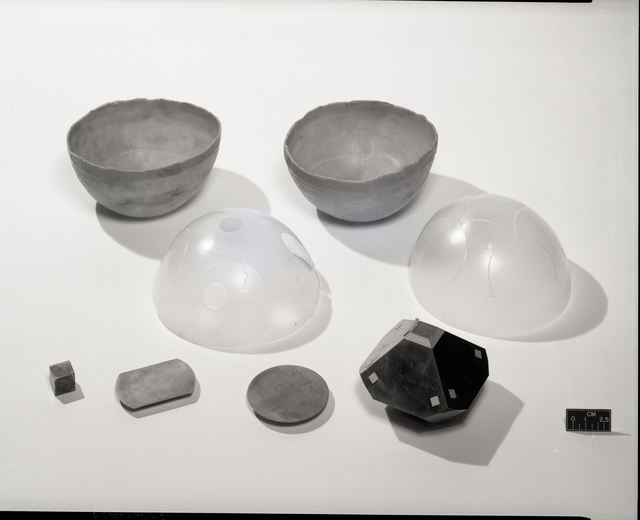 PARTS FROM 6 INCH SPHERE RUN NO. 1