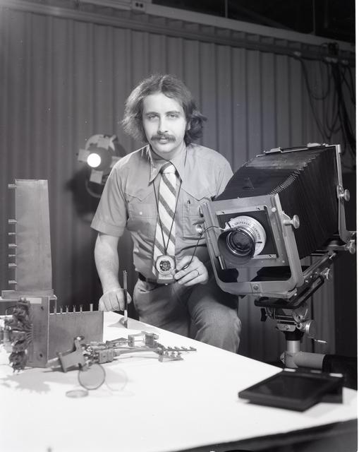 Photographer Daniel Laity in the photography studio