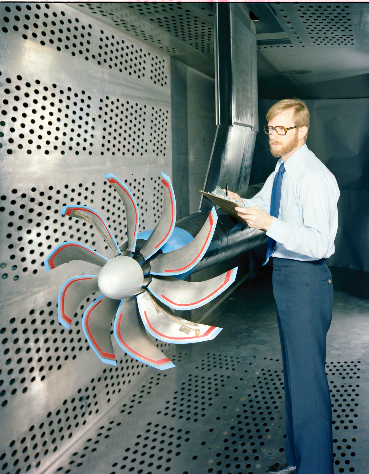 PTR IN THE 8X6 FOOT WIND TUNNEL WITH THE SR-5 BLADES INSTALLED