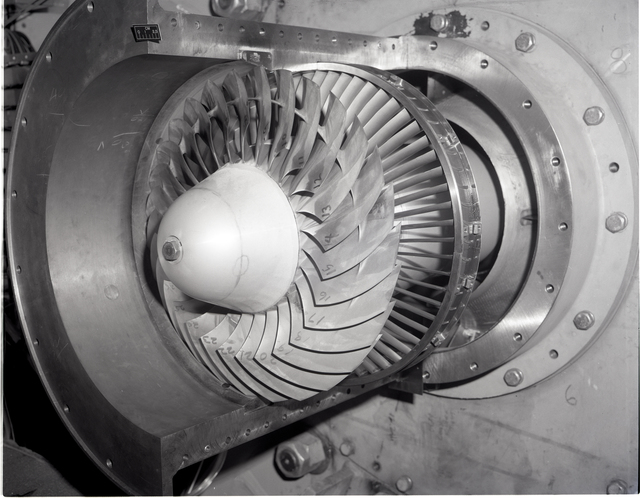 QF-12 INSTALLED B/M INLET - QF-12 ROTOR STATOR RELATIONSHIP