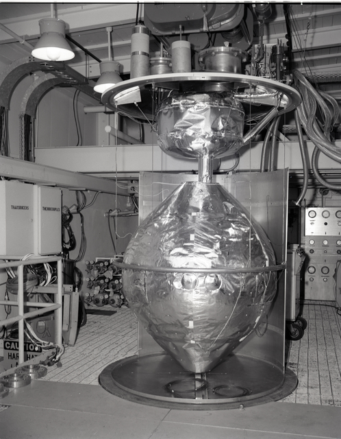 RIS TANK AND PARTIAL SHROUD ASSEMBLY AT ROCKET ENGINE TEST FACILITY RETF