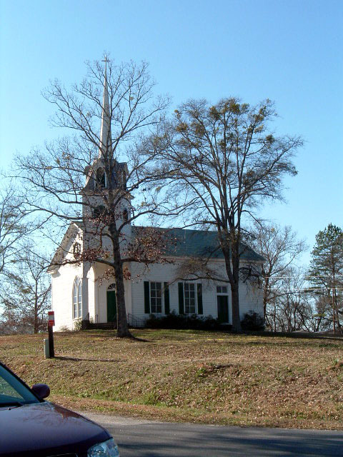 Savannah River Scenic Byway - Church in Lowndesville