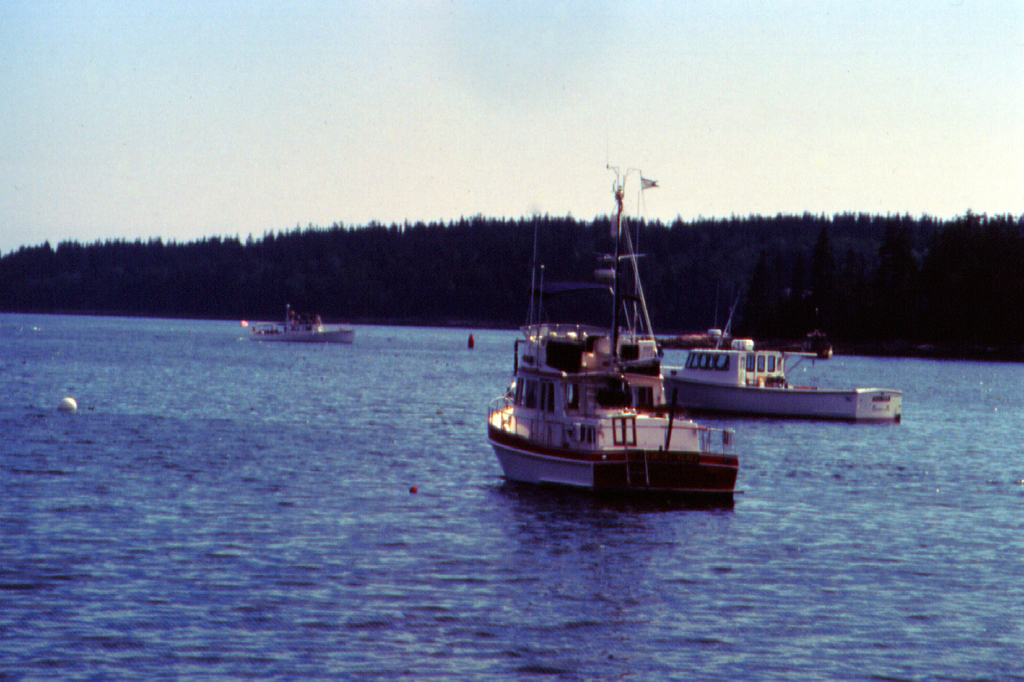 Schoodic Scenic Byway - Lobster Boats in the Atlantic