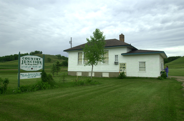 Sheyenne River Valley Scenic Byway - Country Junction at Historic King School