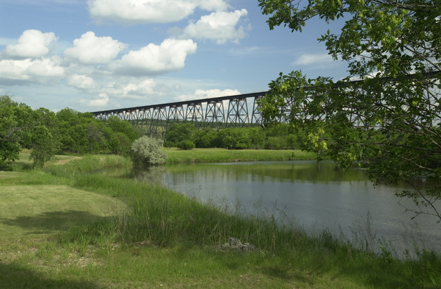 Sheyenne River Valley Scenic Byway - Highline Bridge from Route 19