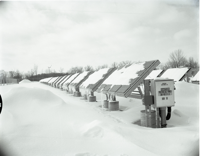 SOLAR ARRAY SHOWING SNOW COVER