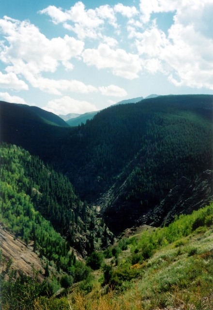 Top of the Rockies - Steep Green Canyons in the Colorado Rockies