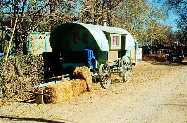 Turquoise Trail - Covered Wagon in Cerrillos
