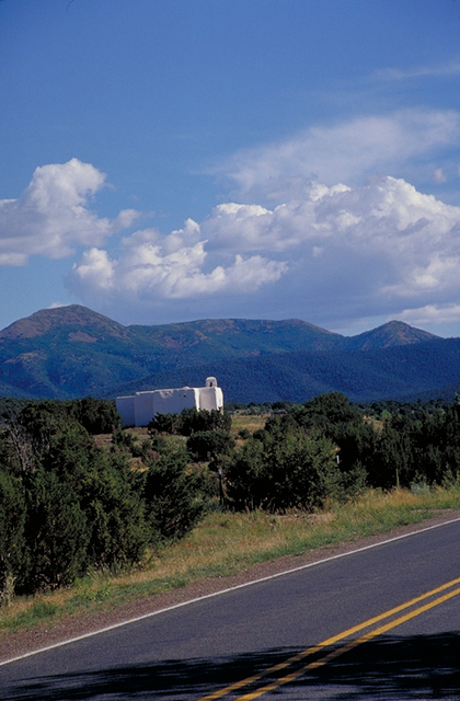 Turquoise Trail - Mountains With Church