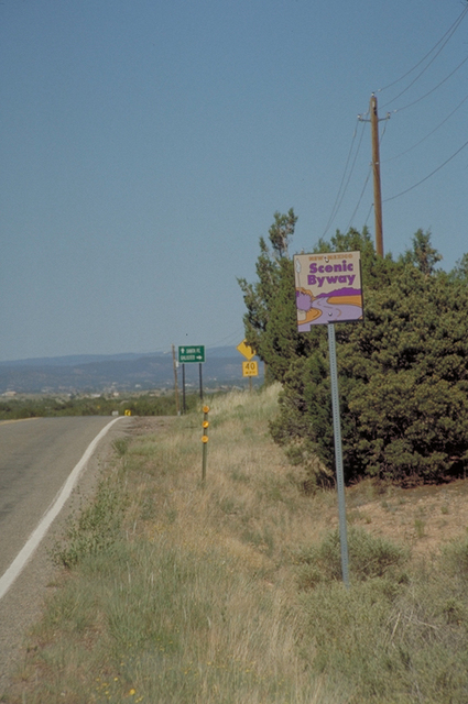 Turquoise Trail - New Mexico State Byway Roadsign