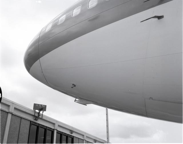 UNITED AIRLINES 747 AIRPLANE SHOWING GLOBAL AIR SAMPLING PROGRAM EQUIPMENT