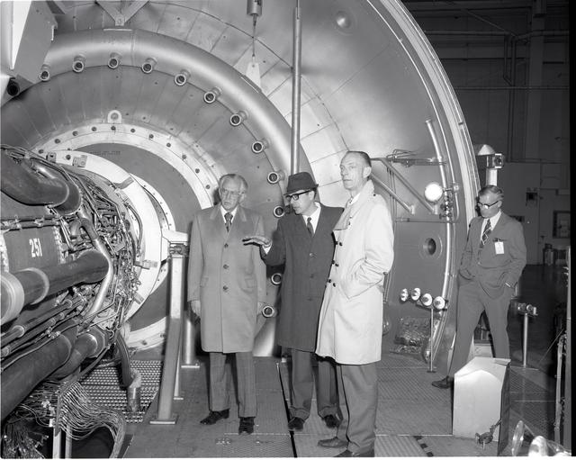 UNITED STATES SENATOR HOWARD METZENBAUM OF OHIO DURING VISIT TO NASA LEWIS RESEARCH CENTER