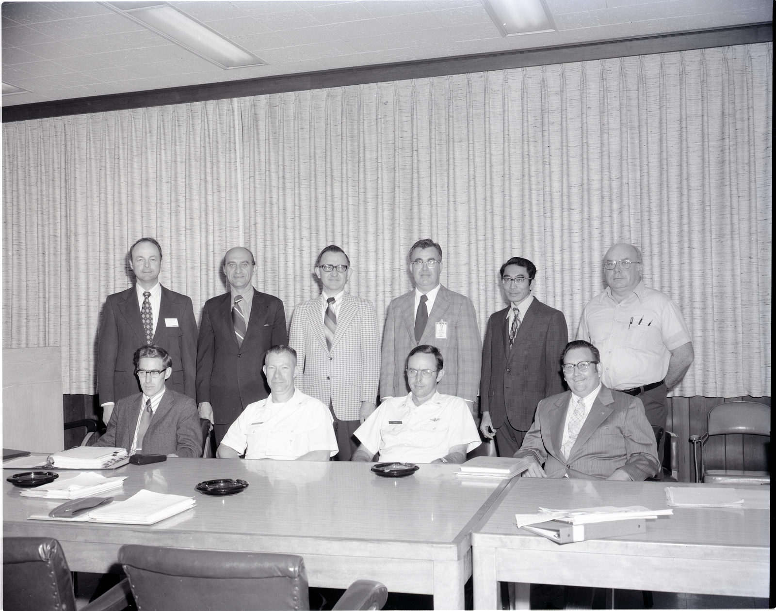 VISIT - LEFT TO RIGHT SEATED - DONALD E LAYCOCK WRIGHT