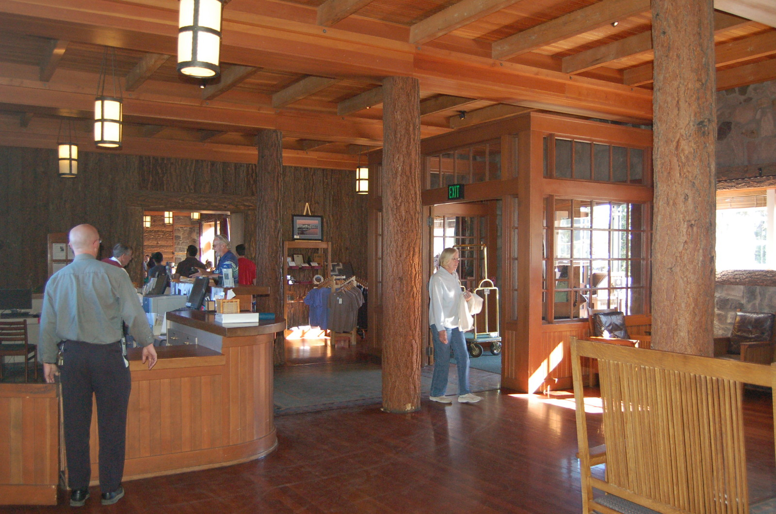 Volcanic Legacy Scenic Byway - Lobby of Crater Lake Lodge