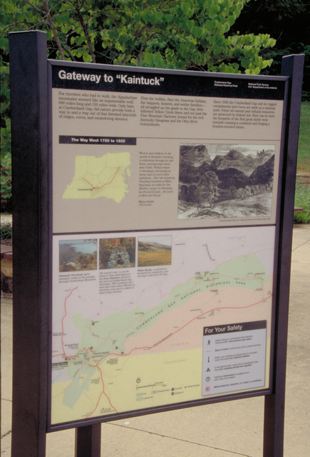 Wilderness Road Heritage Highway - Gateway to Kaintuck Interpretive Sign